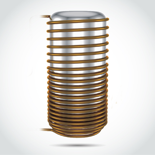 Tank-wrapped condenser coil